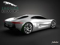 c-x75 concept photorealistic 3d fbx