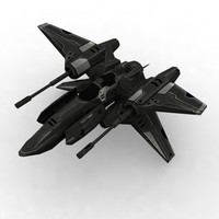 3d model assault fighter
