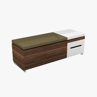 3d model blu cognita storage bench