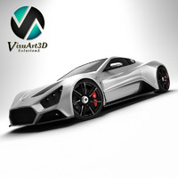3d model zenvo st1