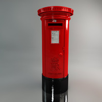 red post box c4d