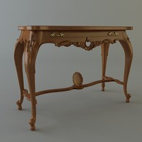 3d baroque table