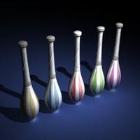 clubs 3d model