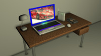 laptop table 3d model