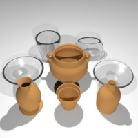 Pottery and Glass Set