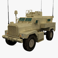 3d armored fighting vehicle cougar model