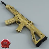 3d model bushmaster adaptive combat rifle