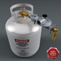 3d c4d helium gas cylinder v2