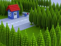 lego scene train 3d max