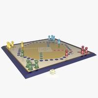 3d model ludo board