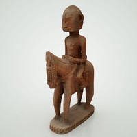 carved man horse 3d obj