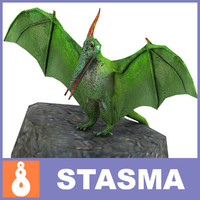 pterodactyl dinosaur obj