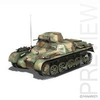 3d model pzkpfw - tank china