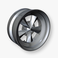 3d obj muscle car wheel rim