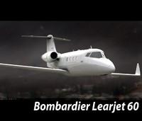 3d bombardier learjet