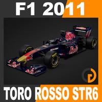 3d model formula 1 2011 toro