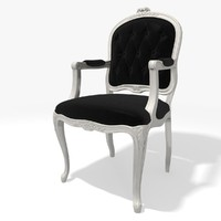 3d model classic tufred armchair eichholtz