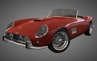 3d model 1960 ferrari 250 gt