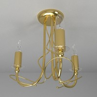 3d lamp ceiling light model