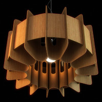 3d model wooden lampshade 01