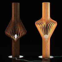 wooden floor lamp 05 max