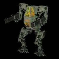 cyber tank 3d model