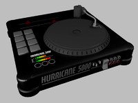 obj black dj turntable console