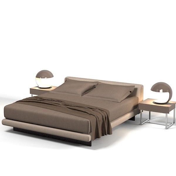 3d Double Bed Design : ... bed double modern contemporary bedroom kit minimalistic design.jpg