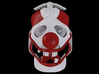 mechanical robot clown head 3d model