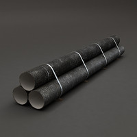 Bundle of Metal Pipes