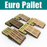 euro pallet 3d model