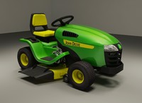 3ds max riding lawn mower