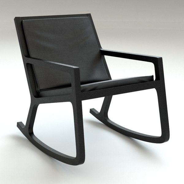 rocker chair 3d model - Rocker Chair... by BBB3viz
