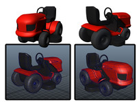 simple mower 3d model