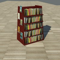 3d book shelf merchandiser