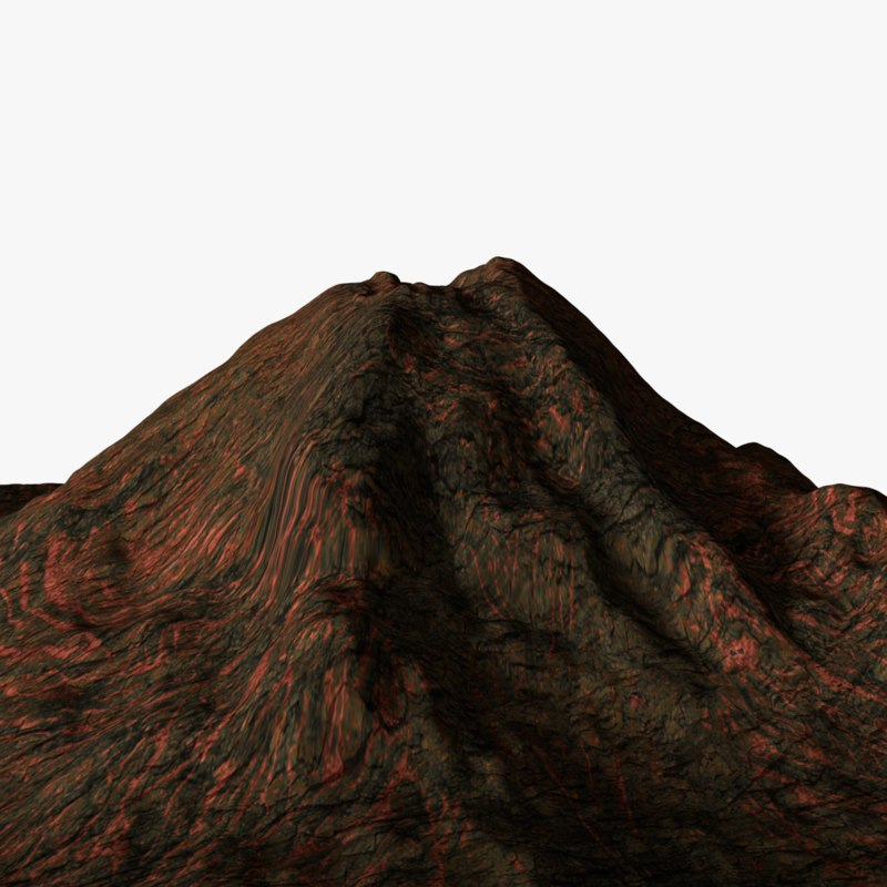 how to build a 3d volcano model