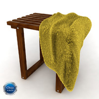 3d model towel rack chair