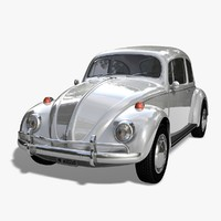 3d model kaefer beetle 1966 car