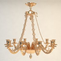 antique chandelier details 3d 3ds