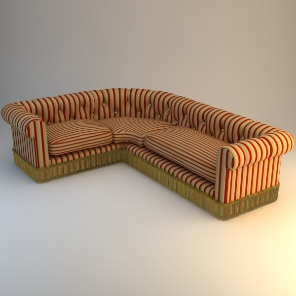 Striped Corner Sofa