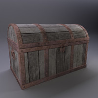 3d obj treasure chest