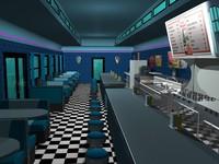 3d diner 0 model