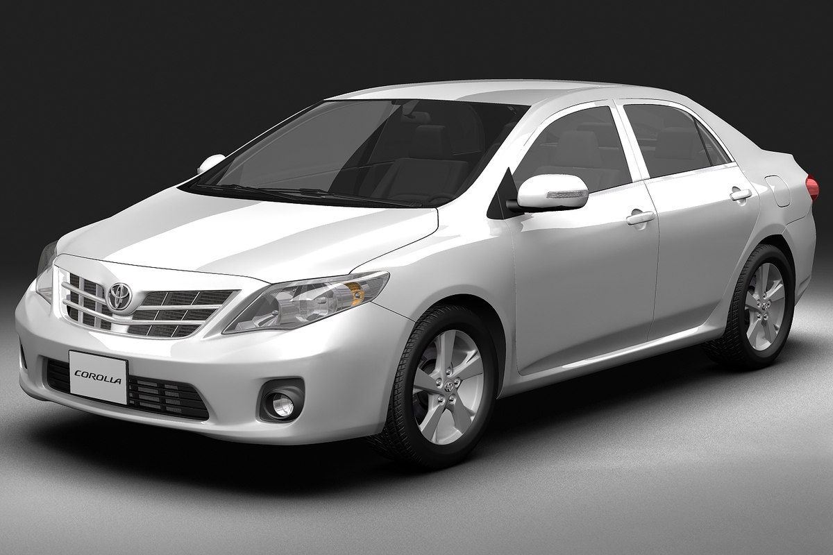 toyota corolla 3d model. Black Bedroom Furniture Sets. Home Design Ideas