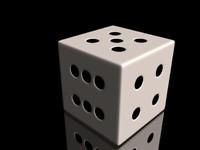 3d model white die