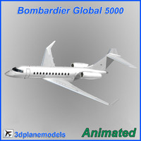 Bombardier Global 5000 Generic white
