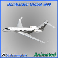3d model bombardier global 5000