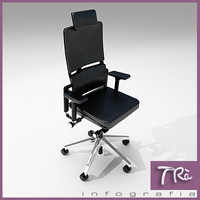 3d model office chair executive