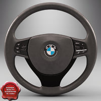 3d bmw 7 series steering wheel