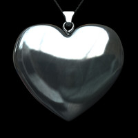 3d heart necklace