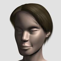 obj hair character mesh